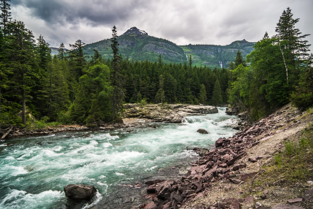 The Wild and Scenic Middle Fork River in Glacier Park Montana